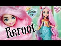 (5) How to Reroot Doll Hair Tutorial & Process - Meeshell Mermaid | Ever After High - YouTube