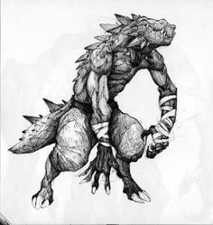 Sketchbook_028_Lizardman by *thiago-almeida on deviantART