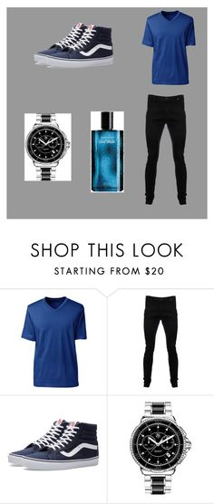 """Ryan Malfoy"" by bexie16 on Polyvore featuring Lands' End, Vivienne Westwood Anglomania, Vans, TAG Heuer, Davidoff, men's fashion and menswear"
