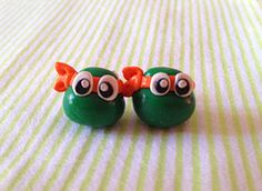 Teenage Mutant Ninja Turtles Clay Earrings $18.50
