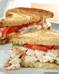 This delicious crab sandwich recipe is great for any outdoor party, day or night. Crab sandwich 1 tablespoon prepared mayonnaise teaspoon freshly squeezed lemon juice 4 ounces crab meat Coarse salt and freshly ground black pepper 2 slices brioche (each in Seafood Dishes, Seafood Recipes, Cooking Recipes, Tofu Recipes, Canned Crab Recipes, Lump Crab Meat Recipes, Soup And Sandwich, Sandwich Recipes, Vegan Sandwiches