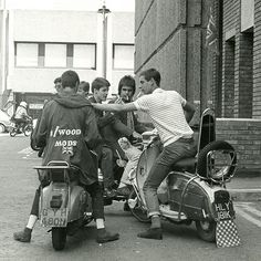 Mods on scooters in London, 1979 by PaulWrightUK