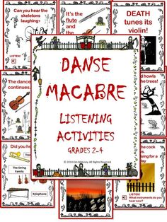 """Danse Macabre - teaching resources value BUNDLE. Contains teaching slides, audio clips and student listening response sheets! #musiceducation #MusicTeacherResources"