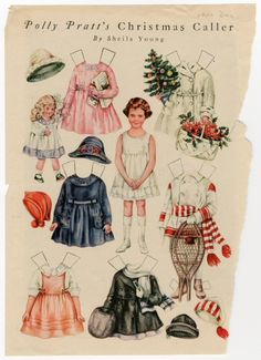 86.3054: Polly Pratt's Christmas Caller | paper doll | Paper Dolls | Dolls | National Museum of Play Online Collections | The Strong