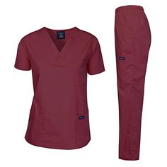 Dagacci Medical Uniform Woman and Man Scrub Set Unisex Medical Scrub Top and Pant, RED, XL Classic Unisex Fit V-Neck Top Two Patch Pockets Top One Chest pocket with Reinforced Pen Slot Top Three Side Cargo Pockets Pants Straight Leg Pants Medical Uniforms, Prom Dresses Long With Sleeves, Medical Scrubs, Scrub Sets, Lace Mermaid Wedding Dress, Costume, Straight Leg Pants, Spring Dresses, V Neck Tops