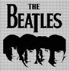 Borduurpatroon The Beatles Kruissteek *Cross Stitch Pattern