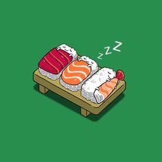sleepy nigiri