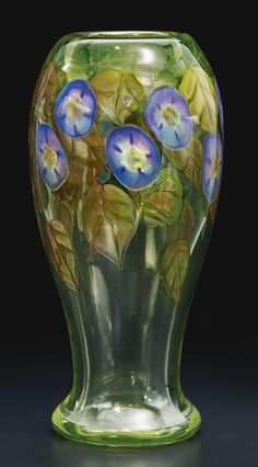 TiffanyStudios Morning Glory Paperweight Vase engraved L. C. Tiffany-Favrile | 1914-15 | Sotheby's