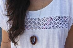 DIY Walnut Heart Necklace | Brit + Co.