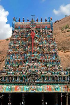Tirupparankundram Murugan Temple Madurai Is A Beautiful Rock Cut Temple Indian Temple Architecture, Ancient Architecture, Beautiful Architecture, Beautiful Sites, Beautiful Rocks, Temple Indien, Temples, Different Architectural Styles, Mother India