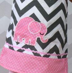 Ellie Elephant Applique Dress – Lu&Mi