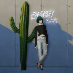 Sims 4 CC's - The Best: destroyed jeans with net tights by 2sanghaec
