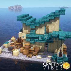 Minecraft House Tutorials, Cute Minecraft Houses, Minecraft Plans, Minecraft House Designs, Amazing Minecraft, Minecraft Tutorial, Minecraft Blueprints, How To Play Minecraft, Minecraft Crafts