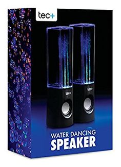 tec+ Dancing Water Speakers Tragbare USB Lautsprecher mit buntem LED Wasserspiel Lichteffekt für PC, Mac, MP3-Playern, Smartphones und Tablets einschl. iPhone 4/4S/5/5S/5C/SE/6/6 Plus/6S/6S Plus, iPad 2/3/4/Air/Mini/Pro, iPod Nano 7, iPod Touch 5, Samsung Galaxy S3/S4/S5/S6/S6 Edge/S6 Edge+/S7/S7 Edge, Galaxy Note 2/3, Galaxy Tab 2/3/4, Xperia Z1/Z2, HTC One/One M8...