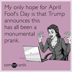 The best April Fool's Day Memes and Ecards. See our huge collection of April Fool's Day Memes and Quotes, and share them with your friends and family. Funny Political Memes, Funny Memes, Jokes, Thing 1, April Fools Day, Expressions, Daily Funny, Day Wishes, E Cards