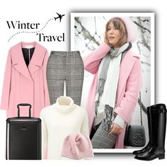 Winter Travel by mmmartha on Polyvore featuring Pure Collection, Marni, Topshop, Tory Burch, Tumi and Portolano