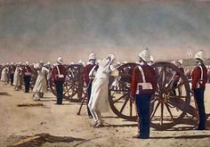 Suppression of the Indian Revolt by the English, by Vasily Vereshchagin Popular method of execution in British India that involved tying people to a cannon and firing it. British Soldier, British Army, East India Company, Harbin, Historical Pictures, Mahatma Gandhi, World History, Art History, Cannon