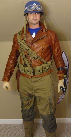 Captain America Bucky Rescue WWII outfit.  Cool costume for a guy!