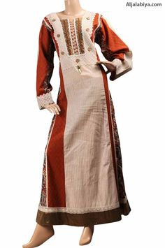 "aljalabiya.com: ""Dutch Miss Kaftan"" Pure cotton kaftan dress with embroidery (N-14052-14) $78.00"
