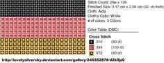 Free Cross Stitch Pattern - German Flag by ~carand88 on deviantART