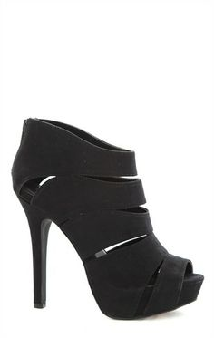Deb Shops Suede Platform #Bootie with Cutouts and Zip Up Back $27.67