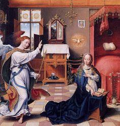 Joos Van Cleve, Annunciation, 1525
