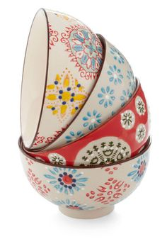 Housewarm and Tasty Bowl Set, #ModCloth. Petite but so pretty. Could even use them on a desk to hold paper clips, etc.