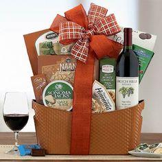 Wine Gift Baskets - Grgich Hills Wine Basket Wine Country Gift Baskets, Holiday Gift Baskets, Wine Baskets, Honey Crunch, Merlot Wine, Creative Snacks, Spicy Honey, Wine Gifts