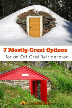 7 Mostly-Great Options for an Off-Grid Refrigerator. Off Grid Refrigeration options for food storage. Includes Evaporative cooler, Ice box, Ice House and Root Cellar. Homestead Survival, Survival Food, Survival Prepping, Emergency Preparedness, Survival Skills, Survival Supplies, Survival Shelter, Survival Stuff, Wilderness Survival