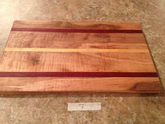 Artisan Crafted Cheese Board, Solid Hardwood Maple, Exotic Hard Wood, Yellow Heart, Bloodwood, Mothers Day Gift, Ready To Ship (#7)