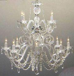 New Murano Venetian Style Crystal Chandeliers 12 Lights Fixture Dining Room | eBay