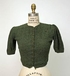 Sweaters were popular because women could make them at home, and it cost less to buy the wool with coupons than to buy a sweater. Sloppy joes were large loose pullover sweaters. Pullovers filled in for waistcoats for men.