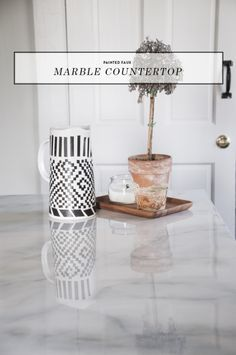 Faux Marble Countertops DIY - Earnest Home co.