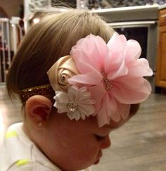 First Birthday Headband https://www.etsy.com/listing/216600884/pink-and-gold-first-birthday-headband