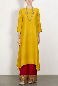 Buy Yellow And Red Color Plazo Suit by Akanksha Singh at Fresh Look Fashion Ethnic Fashion, Look Fashion, Hijab Fashion, Indian Fashion, Fashion Dresses, Fashion Ideas, Fashion Tips, Pakistani Dresses, Indian Dresses