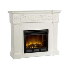 Ivory Baldwin Electric Fireplace White Carve -- Check this awesome product by going to the link at the image-affiliate link. #FireplacesAccessories