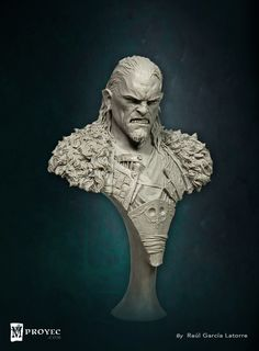 -Thora the savage- Bust sculpted by Raul Garcia Latorre for MProyec. www.mproyec.com