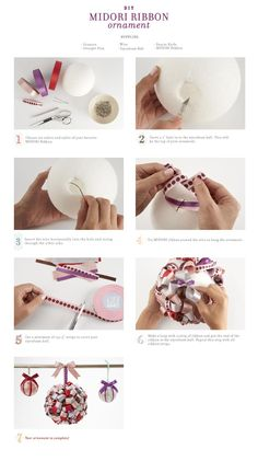 DIY Wedding decorations...hang it on something or put it in a bowl of something as a centerpiece