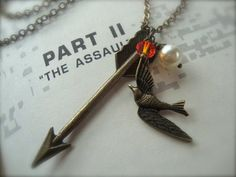 Love it!!     GIRL ON FIRE  Hunger Games Inspired Arrow Charm by JetaimeBoutique, $23.00