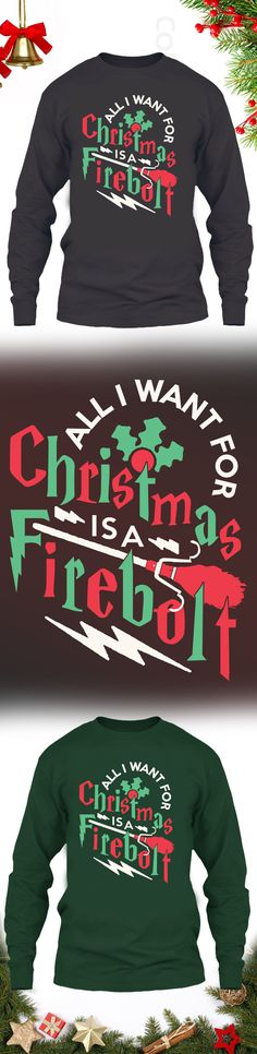 All I want for Christmas is a Firebolt - Get this limited edition ugly Christmas Sweater just in time for the holidays! Click to buy now!