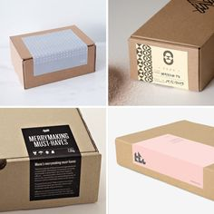 90 Ideas to Spruce Up Your Holiday Packaging Design - Photos via: Anagrama; Marios Georntamilis, Nikos Athanasopoulos, and Konstantina Gorgogianni, - Packaging Carton, Kraft Box Packaging, Packaging Stickers, Candle Packaging, Cookie Packaging, Food Packaging Design, Bag Packaging, Packaging Design Inspiration, Jewelry Packaging