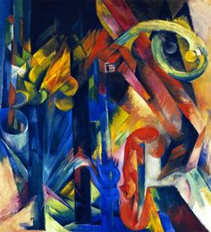 Gazelles  by Franz Marc   Giclee Canvas Print Repro
