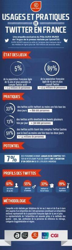 Infographie des usages pratiques sur Twitter et Facebook.