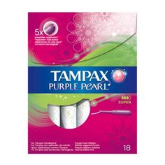 Tampax Purple Pearl tampons super 18s ($4.06) ❤ liked on Polyvore featuring products and filler
