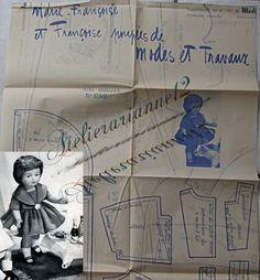 ❤ Patron original, poupée Marie Françoise MODES ET TRAVAUX, Novembre 1959 ❤ : 4,99 EUR