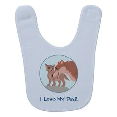 Father Wolf and Pup Baby Bib #wolf #wolves #animals #fathersday #puppy