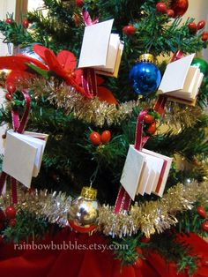 Book ornaments! So want these!