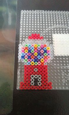 Perler beads gum ball machine