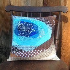 """Robin's Egg"" pillow | quilting | QAYG | Bloomin'"