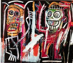 A Jean-Michel Basquiat painting has set a new auction record for the graffiti artist at a sale of postwar and contemporary art in New York. Christie's says. Jm Basquiat, Jean Michel Basquiat Art, Graffiti Art, Guernica, Andy Warhol, Sgraffito, Basquiat Paintings, Art Paintings, Painting Art